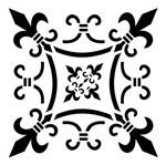 Stencil OPA 15x20 753 Brasão Flor de Lis