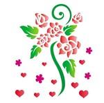 Stencil OPA 15x20 756 Flores Rosas Românticas