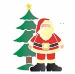 Stencil OPA Natal 20x25 1119 Papai Noel e Árvore