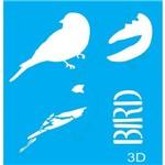 Stencil para Pintura 20x15 Bird 3 Lsm-033 - Litocart