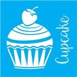 Stencil para Pintura 14x14 Cupcake com Morango Lsp-017 - Litocart