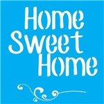 Stencil para Pintura 25x20 Home Sweet Home e Arabesco Lsg-016 - Litocart