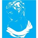 Stencil para Pintura 25x20 Mulher Lsg-011 - Litocart