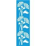 Stencil para Pintura Barra 29,5x8,5 Flores Ls-033 - Litocart
