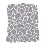 Stencil Simples - 20x25cm - Estampa Craquelê I - OPA2266