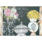 Stencil ST 327 Taça Vaso de Flores