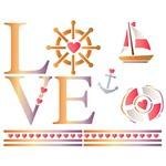 Stencil STR 082 Love Náutico