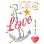 Stencil STR 081 Âncora Love