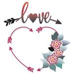 Stencil STXX 075 Coração Love