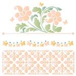 Stencil STXX 077 Flores e Azulejo Português