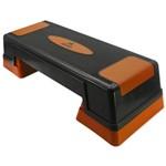 Step de Ginástica – Stp-100 70,5cm X 28,5cm - Preto/laranja