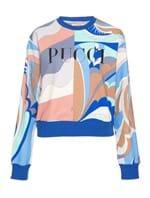 Suéter Ciliegia Estampado Azul Tamanho XL