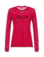 Suéter Infantil Calvin Klein Jeans Logo com Estrela Rosa Pink - 2