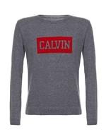 Suéter Infantil Calvin Klein Jeans Logo Peito Chumbo - 4