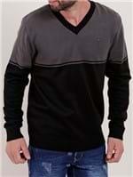 Suéter Masculino Cinza/preto
