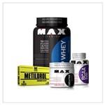 Super Combão Massa Muscular (Top Whey 3W+BCAA 2400+NO2+Dextrose) - MAX TITANIUM