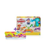 Super Kit Play Doh Barbearia Divertida com 4 Potes - Hasbro