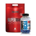 Super Mass 3kg Integral Médica + Complete Bcaa 1000mg 60 Tabs Red Series