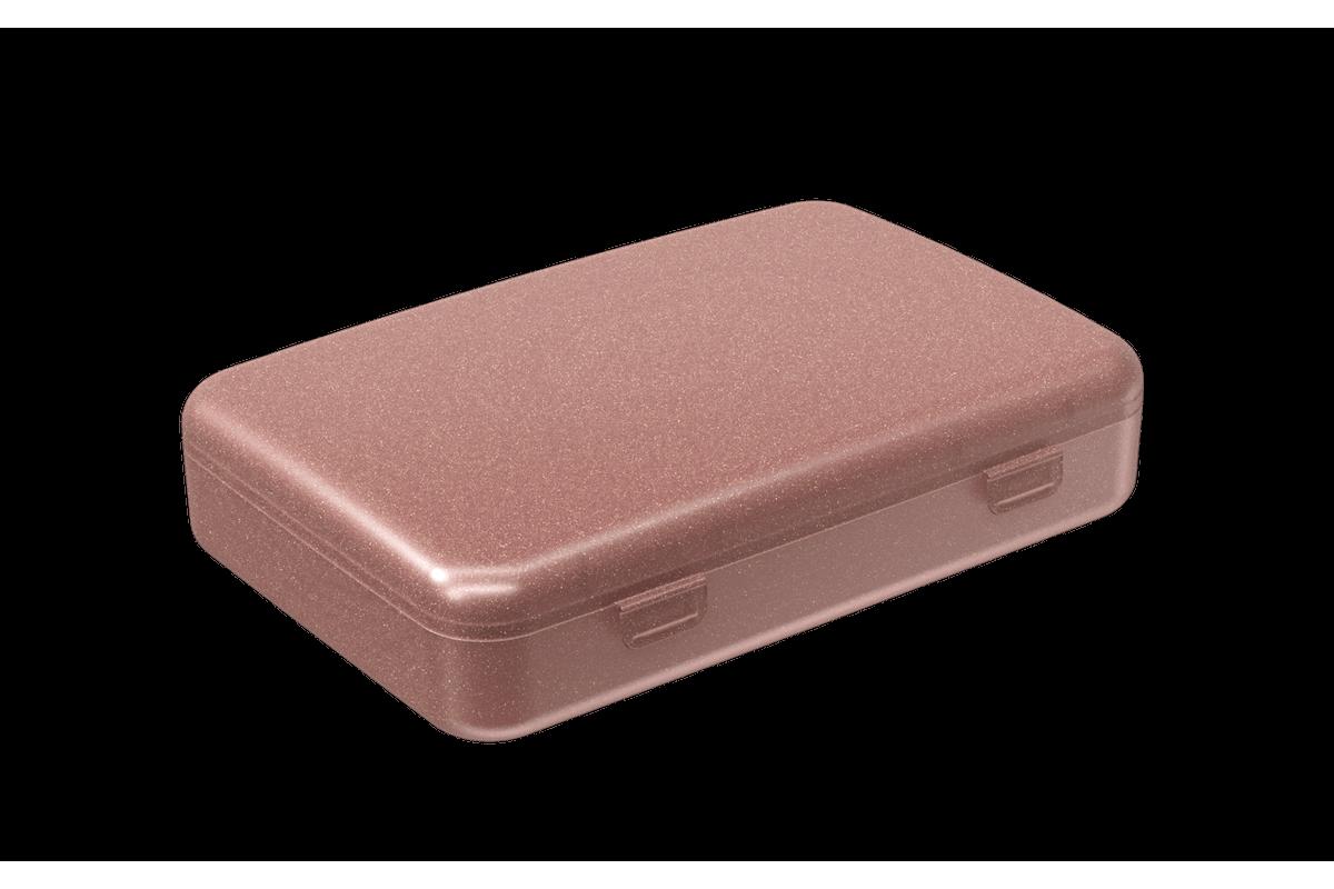 Super Necessária 7 X 10,6 X 1,4 Cm Rosa Glitter Coza