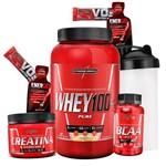 Super Promoção Queima Estoque Whey 100%+bcaa+creatina - Integral Medica Massa Muscular