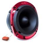 Super Tweeter Fiamon Tf 580 Preto com Guarnição Vermelha Metalizado - 150 Watts Rms Capacitor