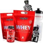 Suplemento Remedio para Ganhar Peso Massa Muscular Rápido - 2x Whey Nutri + Bcaa + Garrafa