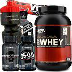 Suplemento Whey Protein Gold Standard On 907g + BCAA 2400 + Termogenico