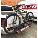 Suporte Bike Carro Engate Transbike Bola com Canaleta em Alumínio e Sinalizador