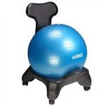 Suporte Cadeira para Bola D Pilates + Bola Suica 65cm Liveup