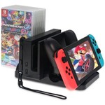 Suporte de Carregamento Multifunções Nintendo Switch - Preto