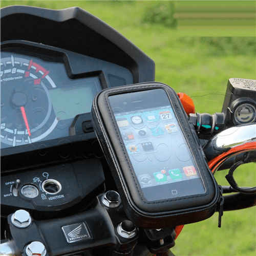 """Suporte de Celular Impermeável para Bicicleta e Moto Celulares Médios - Até 5.5"""""""