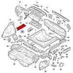 Suporte Lado Direito do Painel Assoalho Traseiro Portamalas 52018139 Cobalt