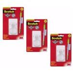 Suporte para Vassouras Adesivo Scotch 3m - Kit C/ 3 Cartelas