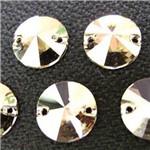 Swarovski Rivoli Dois Furos Cristal Satin 12mm 1 Unidade