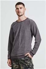 Sweater Raglan Invertido Marrom G
