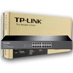 Switch Tp-link 16 Portas Tl-sf1016 10-100mbps Rack