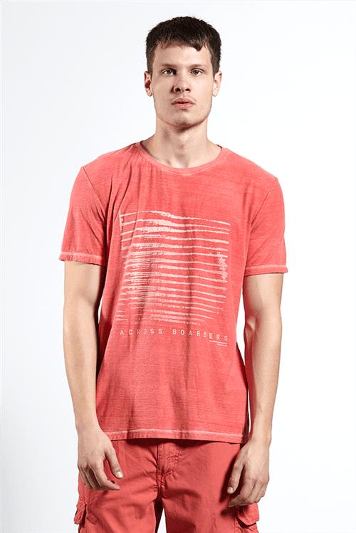 T-shirt Across Boarders Vermelho Gg