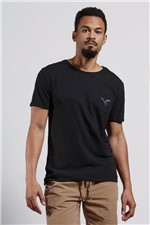 T-shirt Aguia Bolso Preto P