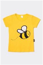 T-shirt Ampla Bzzz 2 a 7 Anos - Bb Básico 6G - AMARELO