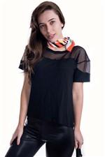 T-shirt Básica com Detalhe BL1919 - M