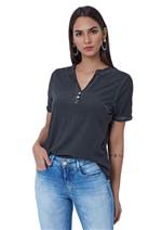 T-Shirt Básica de Viscose Tingida