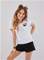 T-shirt Bolso Panda Branco G