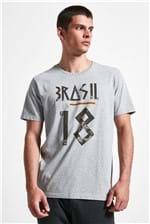 T-shirt Brasil 18 Mescla M