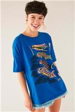 T-shirt Cantão Local Boa Sorte - Azul