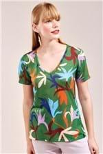T-shirt Cantão Local Floral do Mar