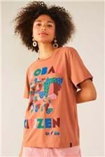 T-shirt Cantão Local Global Citizen - Marrom