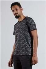 T-shirt Carimbo Full Preto G