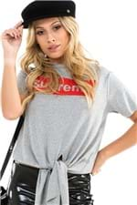 T-shirt com Estampa e Amarração BL4255 - Kam Bess