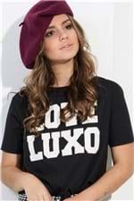 T-shirt com Estampa e Amarração Love Luxo BL4036 - Kam Bess