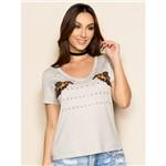 T-Shirt com Patch de Abelha e Termocolante M